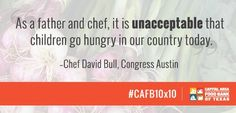 We agree with Chef David Bull. It's one of the reasons we're committed to #cafb10x10. http://www.cafb10x10.com/