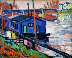 Maurice de Vlaminck - La Seine et Le Pecq, 1906 at Kunsthaus Zürich Henri Matisse, Andre Derain, Raoul Dufy, Fauvism Art, Maurice De Vlaminck, Georges Braque, Art For Art Sake, Modern Artists, Van Gogh