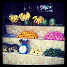 Fruit stand.  Cebu, Philippines.