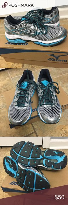Brand new Mizuno Wave Enigma 5 running shoe Brand new Mizuno Wave Enigma 5 running shoe, size 6.5 B. Only wore once to run about a mile on treadmill to try them out and they didn't work for me. Mizuno makes best running shoes! Mizuno Shoes Sneakers