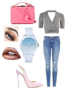 A fashion look from June 2017 featuring summer tops, blue jeans and platform shoes. Browse and shop related looks. Mark Cross, Lacoste, Topshop, Summer Tops, Platform Shoes, Blue Jeans, Black Shoes, Polyvore, Fashion Looks