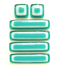 Aqua and White Glass Knobs and Pulls | Flickr - Photo Sharing!