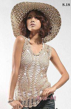 Crochet Cotton Pineapple Tunic Top PATTERN by SassyloveCrochet