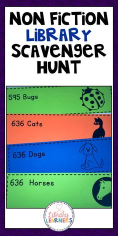 How many ways can your student interpret a number get them non fiction library scavenger hunt cards fandeluxe Images
