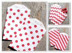 Valentine Favor Bags MINI COMBO Pack in by thebakersconfections, $4.50