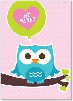 Silly Owl - Valentine's Day Cards in Daiquiri   Magnolia Press