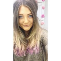 ZALA CLIP IN HAIR EXTENSIONS DYED PURPLE BALAYAGE   www.zalacliphairextensions.com.au