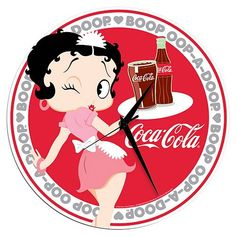 "Coca-Cola ""Betty Boop"" Clock"