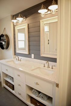 Achieving a vintage, time-worn look is simple if you start with the right paint. With Americana Decor Chalky Finish paint, creating beautiful home decor and furniture pieces does not require skills or… Diy Bathroom, Americana Decor, Bathroom Makeover, Bathroom Styling, Bathroom Vanity, Home Renovation, Bathroom Design, Farmhouse Bathroom Decor, Small Bathroom Makeover