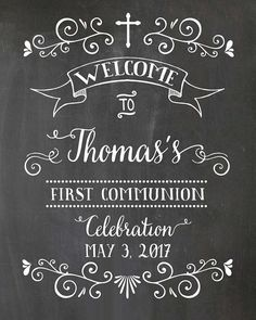 Welcome poster. Welcome First Communion Poster. First