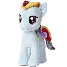 My Little Pony Rainbow Dash Stuffed Animal by Aurora at Stuffed Safari ($19) ❤ liked on Polyvore featuring toys, stuffed animal and my little pony