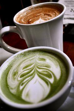 I think I am afraid of the green latte!