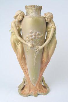 An Austrian Art Nouveau vase  Made in the manner of Royal Dux
