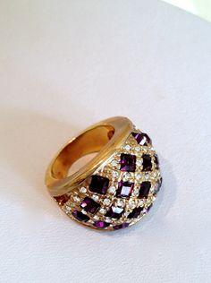 Vintage Amethyst Estate Jewelry Ring.  via Etsy.
