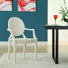 Louis Acrylic Chair in White