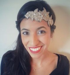 "Pink Pewter ""Melissa"" Silver Headband on Pink Pewter team member Alyx"