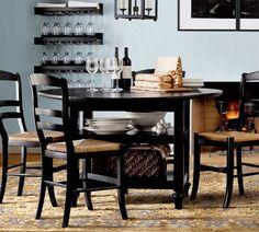 #Mesa con espacio de almacenaje para el #comedor.