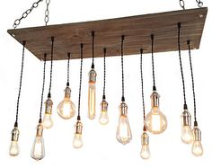 Chandelier 17 Pendant Lights Reclaimed Rustic by HangoutLighting