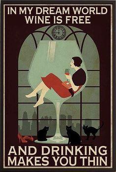Illustrations, Illustration Art, Wine Poster, Cat Posters, Wine Quotes, In Vino Veritas, Wow Art, Wine Time, Retro