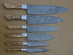 Damascus Steel Kitchen Chef Knife Set-6-Piece by Worldpoints