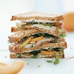 Cool as a you-know-what, this crunchy, fruit-studded cream-cheese sandwich is refreshing during summer. Try it with a cup of gazpacho.