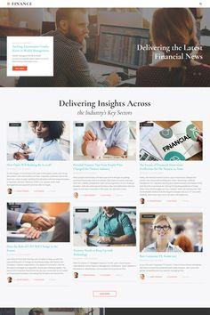 Finance - Financial Adviser Agency Multipage HTML Website Template Big Screenshot