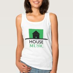 #party - #House Music Green House Tank Top