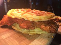 #WhiteSox Chicken and Waffle Sandwich, served at U.S. Cellular Field.