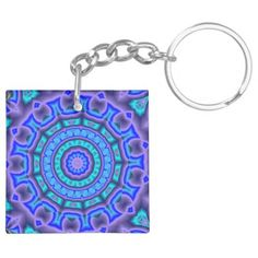 Blue & purple circle art keychain - tap to personalize and get yours Circle Art, Different Shapes, Purple, Blue, Personalized Items, Abstract, Crafts, Color, Style
