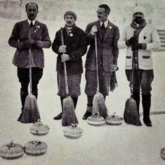 1st winter olympics, chamonix 1924 - French curling team