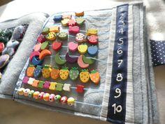 count from 1 to 10 in Babi's quiet book Count, Book, Cake, Desserts, Diy, Tailgate Desserts, Deserts, Bricolage, Kuchen