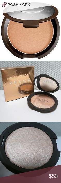 BECCA Jaclyn Hill Shimmer Skin Perfector Pressed THIS IS ONLY FOR PURCHASE IN SELECT BUNDLES.  The shade is Champagne Pop. Highlighter is new and only removed from box for pictures.  No trades. Sephora Makeup Luminizer
