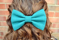 Solid Color LinenLook Hair Bows