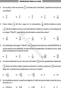 Ejercicios suma y resta de fracciones | Noelia | Pinterest
