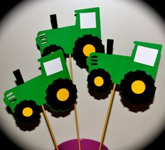 Tractor Themed Party Table Centerpiece Topper by FabFivePartyDecor, $6.00