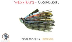 V & M Pacemaker - 3/8 oz Pulse Swim Jig - Bluegill - One of the best colors for bass fishing with swim jigs - From Lunkercatch.com