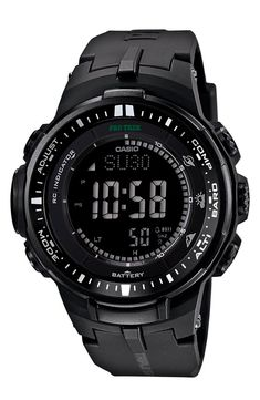 Casio Protrek Watches - Designed for Durability. Casio Protrek - Developed for Toughness Forget technicalities for a while. Let's eye a few of the finest things about the Casio Pro-Trek. Casio Protrek, G Shock Watches, Sport Watches, Cool Watches, Watches For Men, Field Watches, Wrist Watches, Unique Watches, Women's Watches