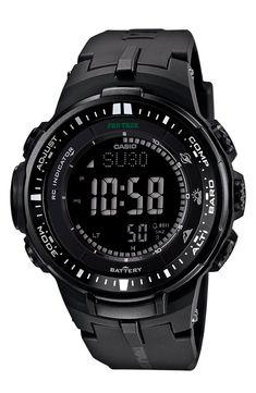 CASIO G-Shock 'Pro Trek' Triple Sensor Digital Watch, 47mm