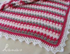 Larksfoot Blanket - Pattern, Chart & Video: http://www.crochetgeek.com/2009/04/larksfoot-crochet-pattern-stitch-baby.html <3