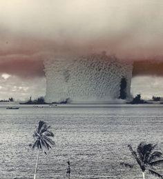 Standard Fat Man type Mk 3A fission bomb, subsurface burst, -27.5 m depth, 23Kt yield test name: Baker; Operation Crossroads, 1946