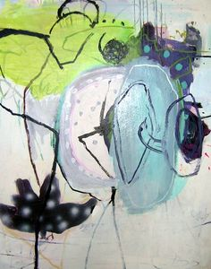 Jette Segnitz. Danish contemporary artist. Abstract paintings. Acrylic on canvas. www.segnitz.dk