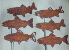 A whole school of trout! #foothillmetalart