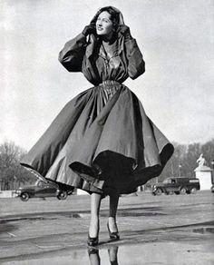 Balenciaga raincoat, 1950