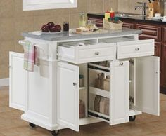 Some examples as a source of inspiration kitchen island moving in a variety of materials that make a modern kitchen is more flexible and convenient.