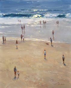 Carmel Beach by Jesse Powell  Oil20 x 16