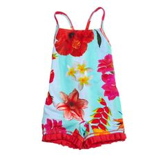 Coral Flower One Piece Swimsuit