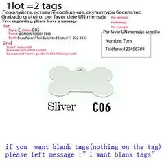 Pet Tag 2pcs/lot Personalized Pet ID Tag Customized Dog ID Tag Laser engraving dog Tag Identification Free Engraved