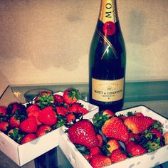 Champagne and strawberries galore for a fabulous date night in!
