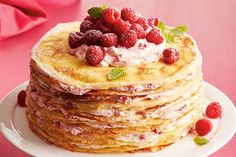 While the crêpes require a little extra effort, the whole dessert comes together faster than a traditional layer cake.