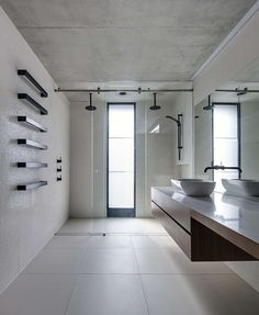 37 Modern Shower Designs For Your Modern Bathroom. Nowadays it seems that more and more people consider their bathroom as one of the best places in their home where they can retreat from the stresses . Large Floor Tiles, Double Shower, Timber Frame Homes, Modern Shower, Polished Concrete, Modern Bathroom Design, Bathroom Designs, Minimal Bathroom, Modern Bathrooms